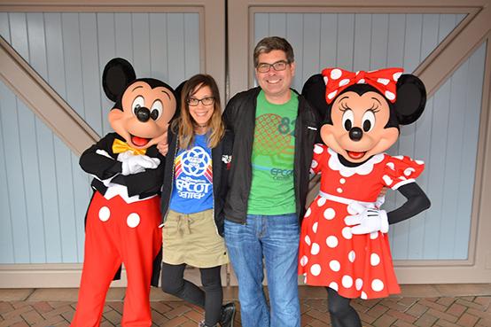 Rainy Days at Disneyland- Mickey and Minnie