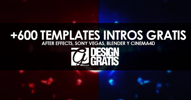 +600 templates gratis After Effects, Sony Vegas, Blender y Cinema4D de intros