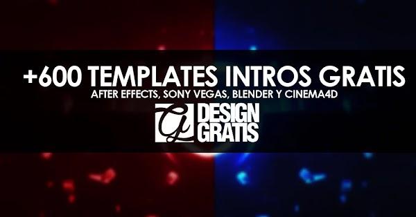 +600 templates gratis After Effects, Sony Vegas, Blender y Cinema4D de intros