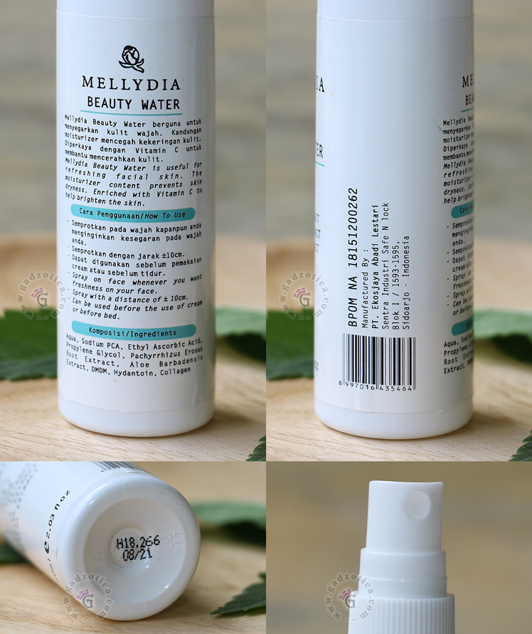 Review Mellydia Beauty Water
