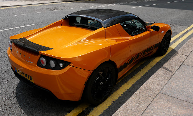Tesla Roadster rear view