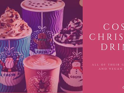Costa Christmas Drinks: Gluten Free and Vegan
