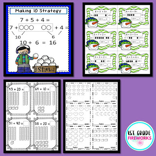 Making 10 Strategy for winter math