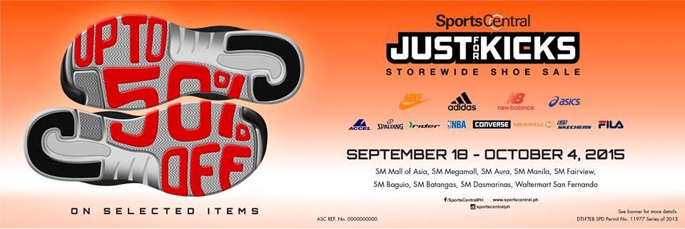3212196c63a Manila Shopper  Sports Central Just for Kicks SALE  September 2015