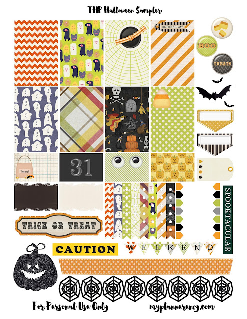 Free Printable Original Halloween Sampler for the Happy Planner on myplannerenvy.com