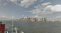 image made from deck of fireboat, NYC skyline