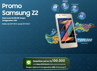 Promo Samsung Z2 Smartphone murah harga di bawah Rp 1 juta