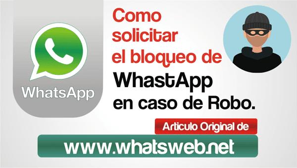 Como solicitar el bloqueo de WhastApp