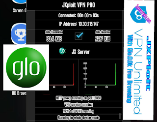 Glo 0.0k Free Browsing Very Fast and Stable on Jxploit Vpn Pro