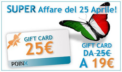 gift card poinx 25 aprile