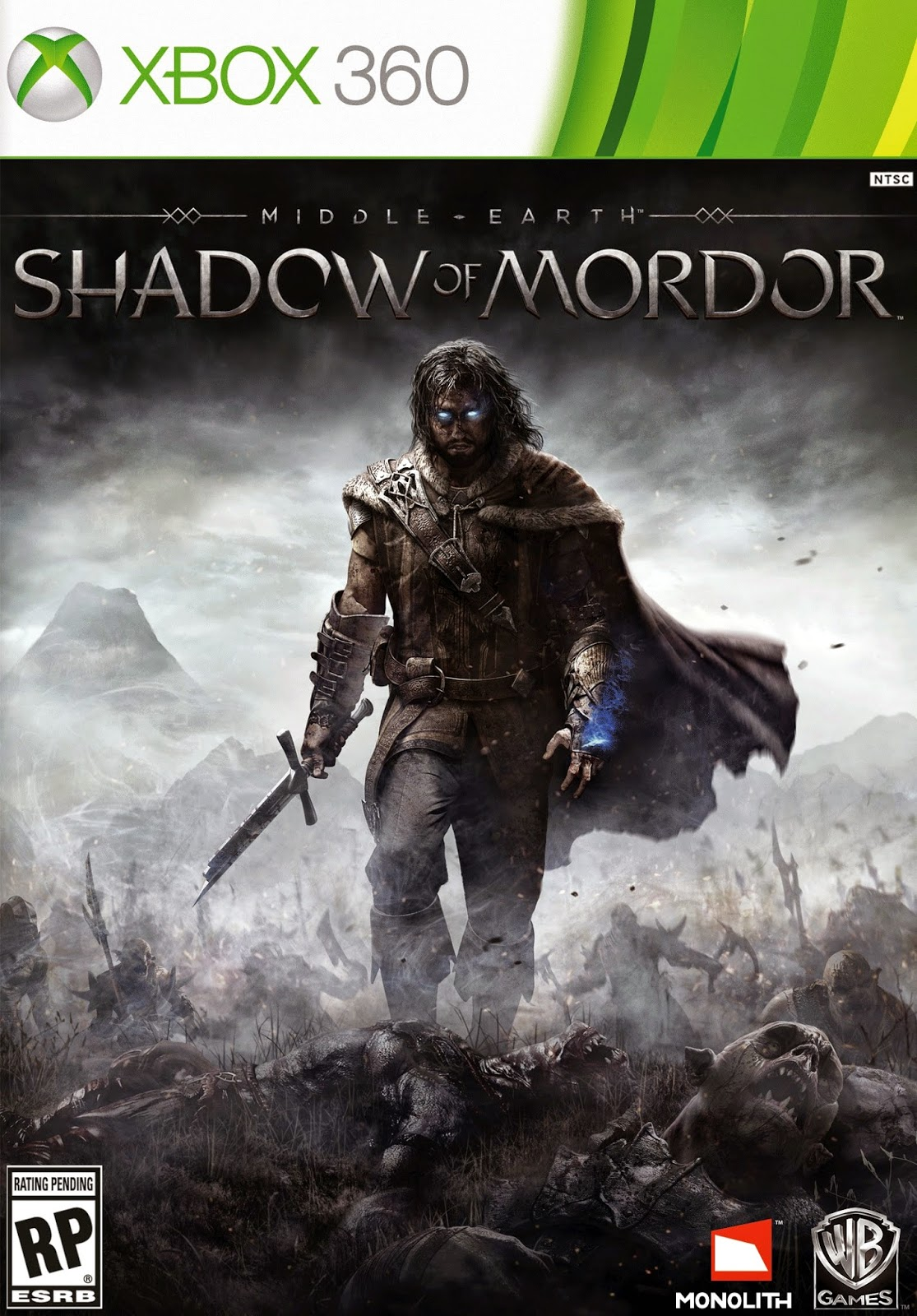 Middle-Earth Shadow Of Mordor XBOX 360 Cover Caratula