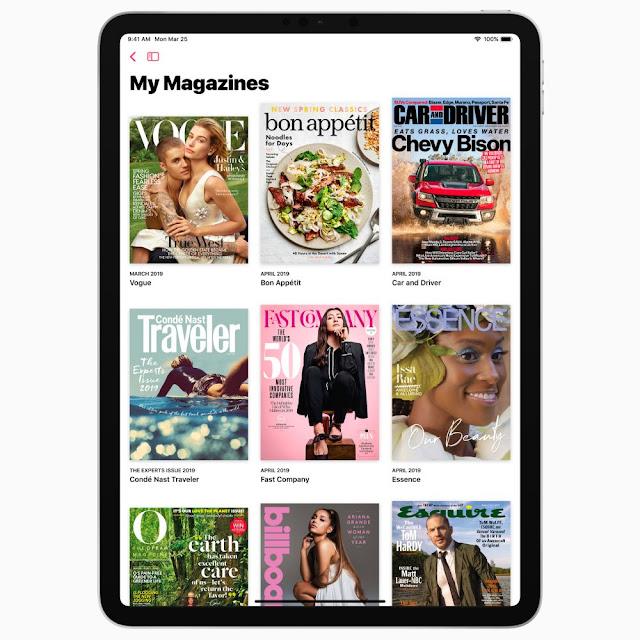 Apple News Plus Magazines on iPad