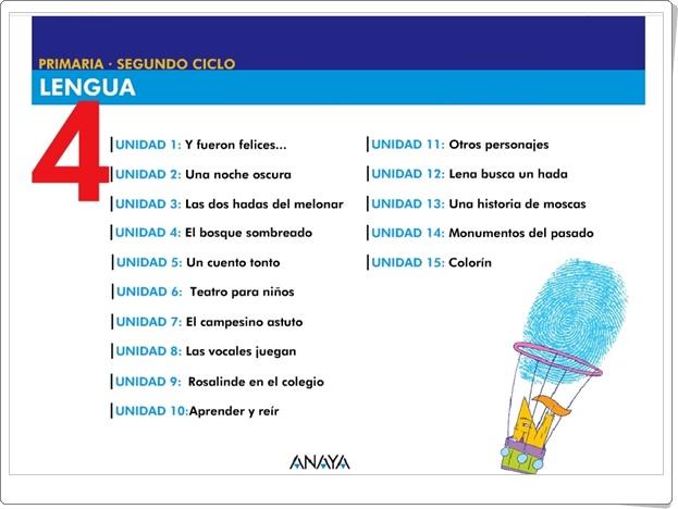 """""""Recursos Didácticos Interactivos Anaya. Lengua Española de 4º de Primaria"""" (Deja huella)"""