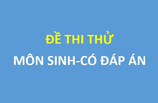 Đề thi thử môn sinh trường THPT chuyên Bắc Ninh