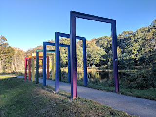 one of two new sculptures added to the Sculpture Park recently