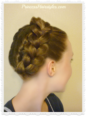 Step by step hair tutorial. How to make a crown braid or halo braid cheat.