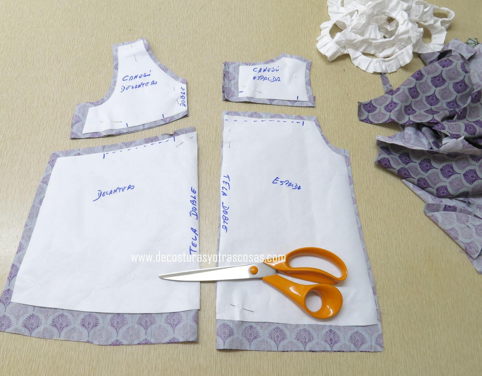 De Costuras Y Otras Cosas Vestido Para Niña Con Escote Pico