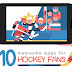 Top 10 Hockey Apps for Android and iOS (iPhone / iPad) - Infographic