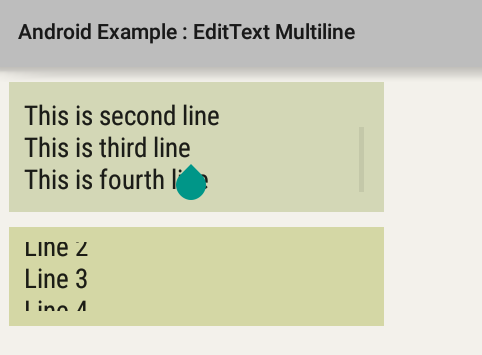 How to create multiline EditText in Android