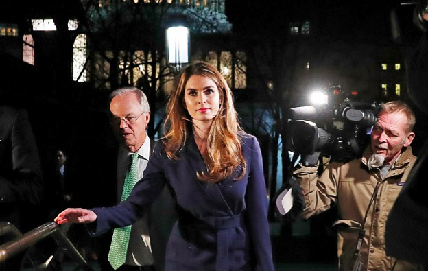 Hope Hicks 'admits she tells LIES for Trump' during NINE-HOUR grilling from lawmakers - but insists she has always told the truth about matters in the Russia probe