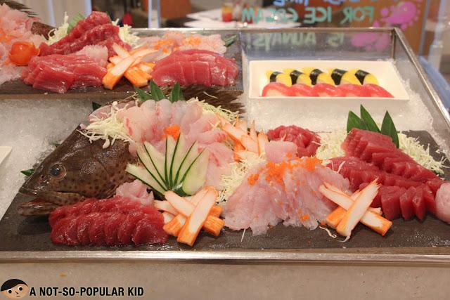 Fresh sashimi in Hotel Jen's Latitude