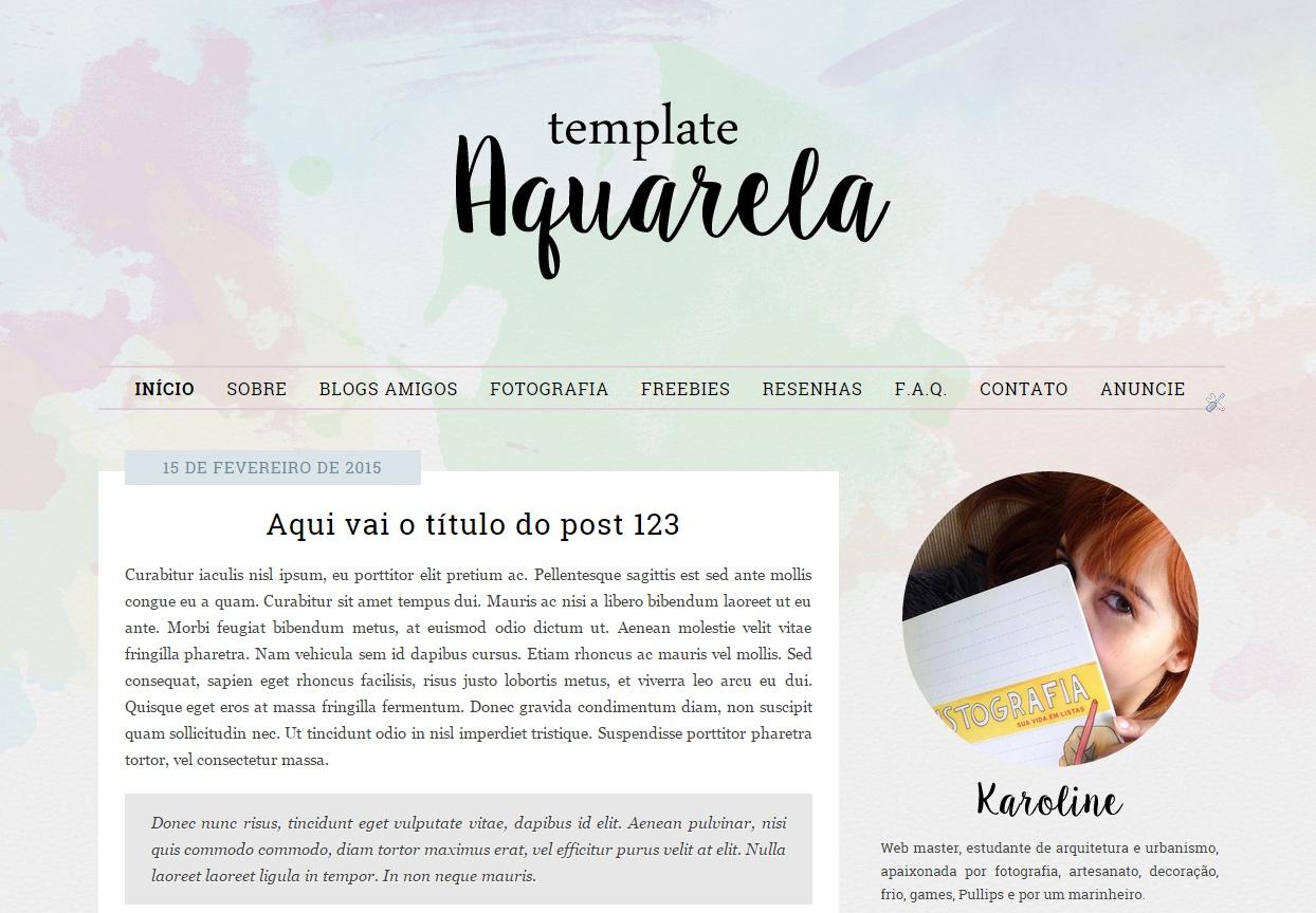 Fabuloso Layout free para o seu blog | 1001 Julietas KZ35