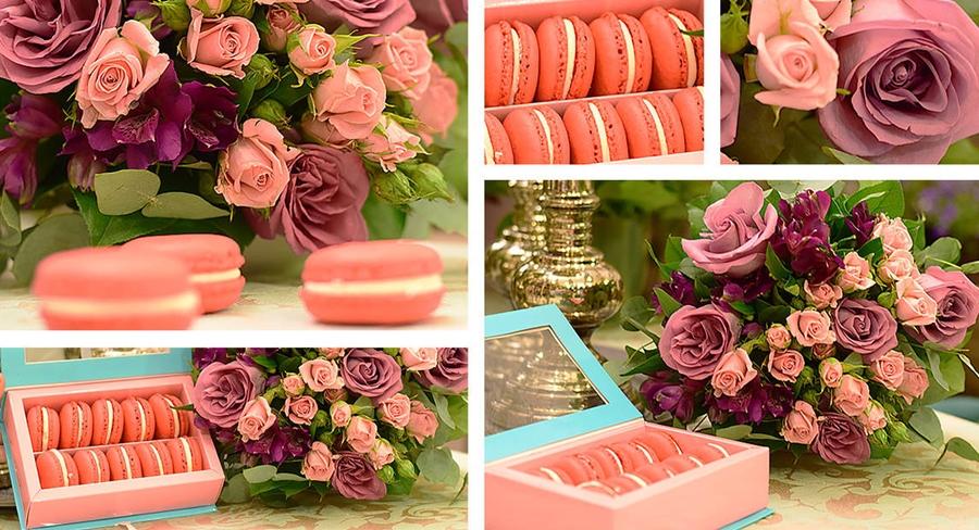 flori cadou 1 8 martie dragobete macaroons
