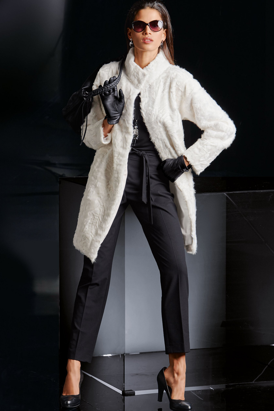 Madeleine Lambskin Jacket in Wool White