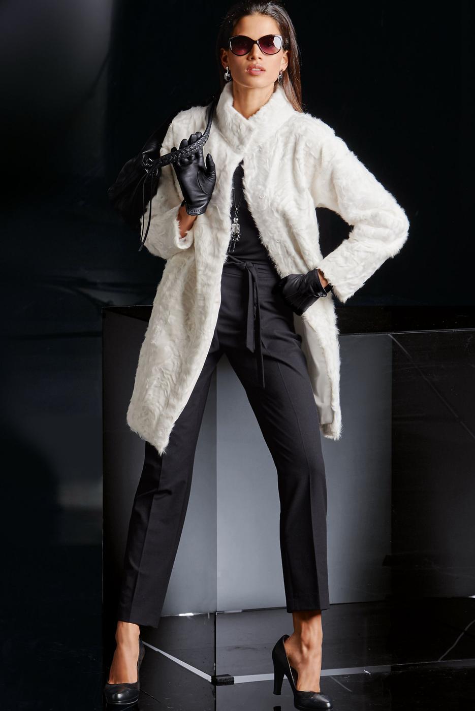 Madeleine Lambskin Jacket in Wool White
