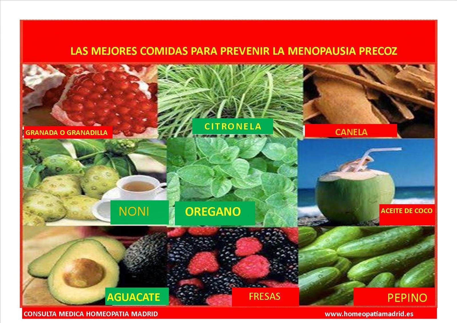 mejores alimentos para la menopausia