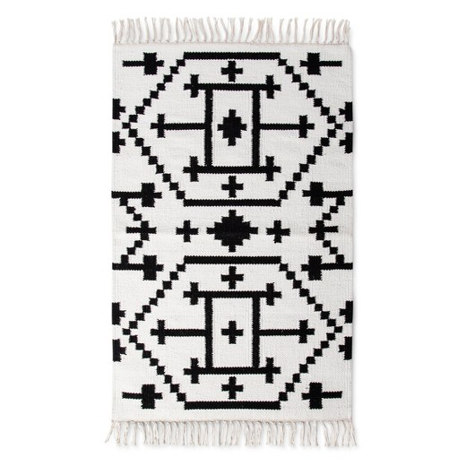 target black and white accent rug