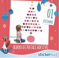 Logo Calendario dell'Avvento Stickerkid: offerte o premi ogni giorno! gioca ora per l'Albero di Natale