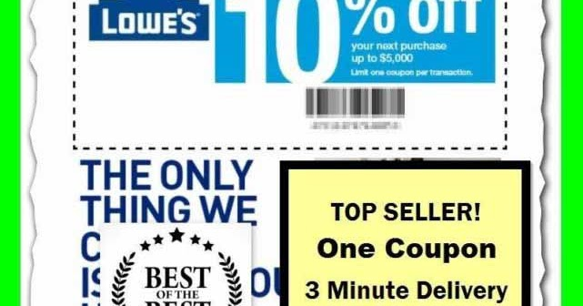 Lowes Coupon Code January 2019
