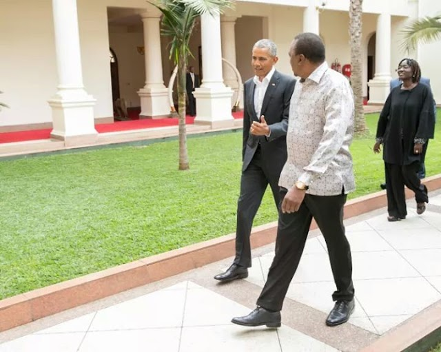 Obama meets Uhuru and Odinga on his day one visit to Kenya