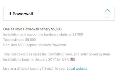 14 kWh Powerwall for  $5,500