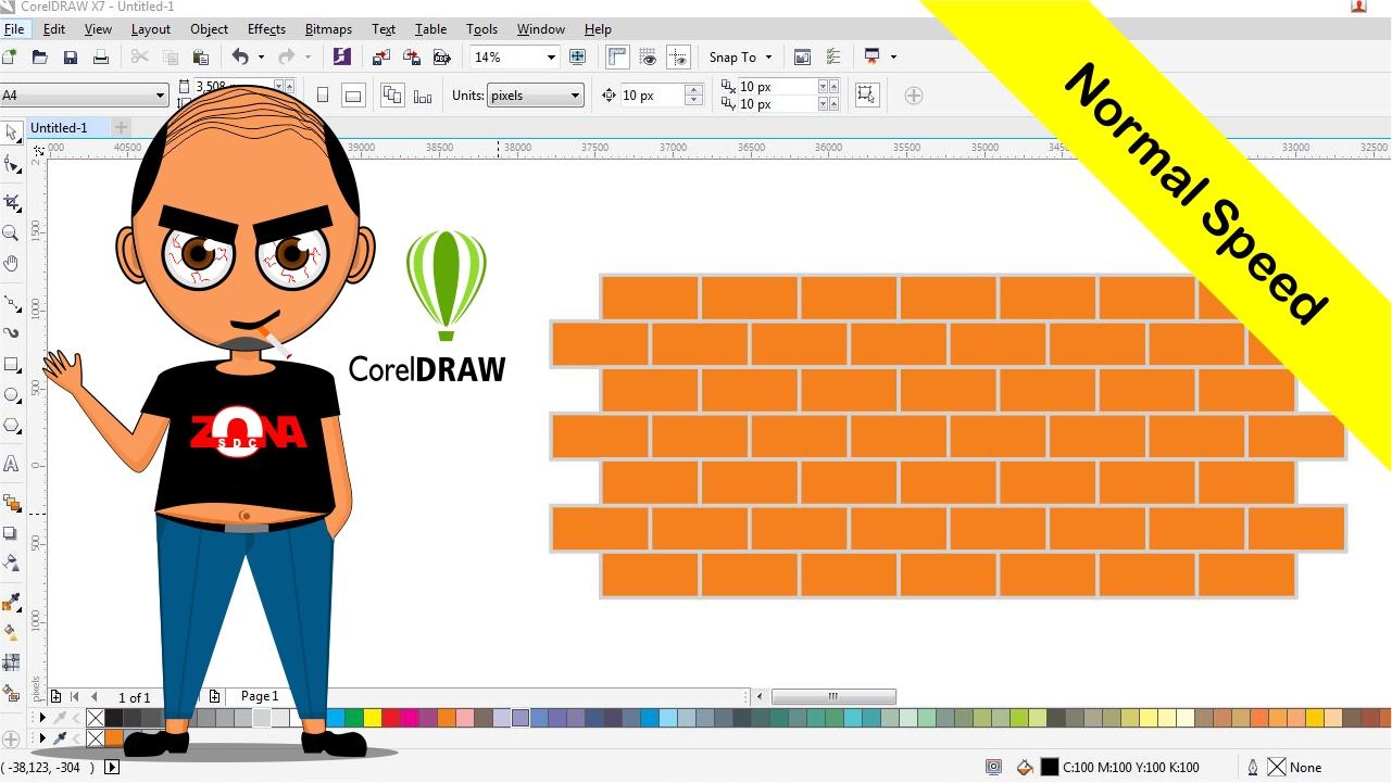 Cara Membuat Tembok Bata Merah Dengan Corel Draw X7 ~ Belajar Desain Grafis