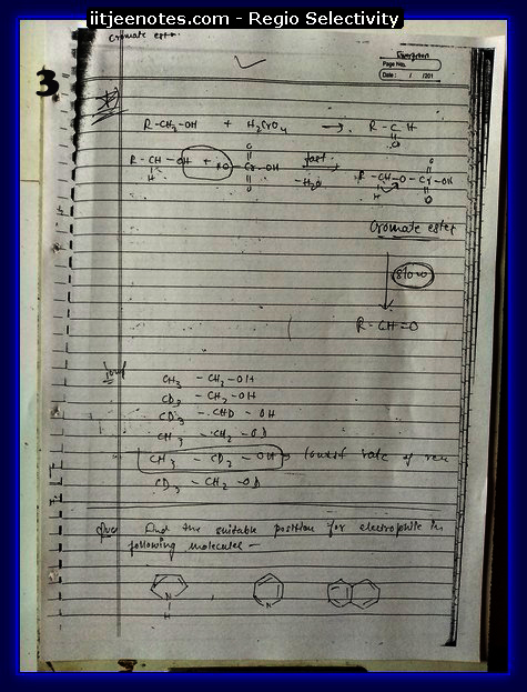 Regio selectivity ORG3