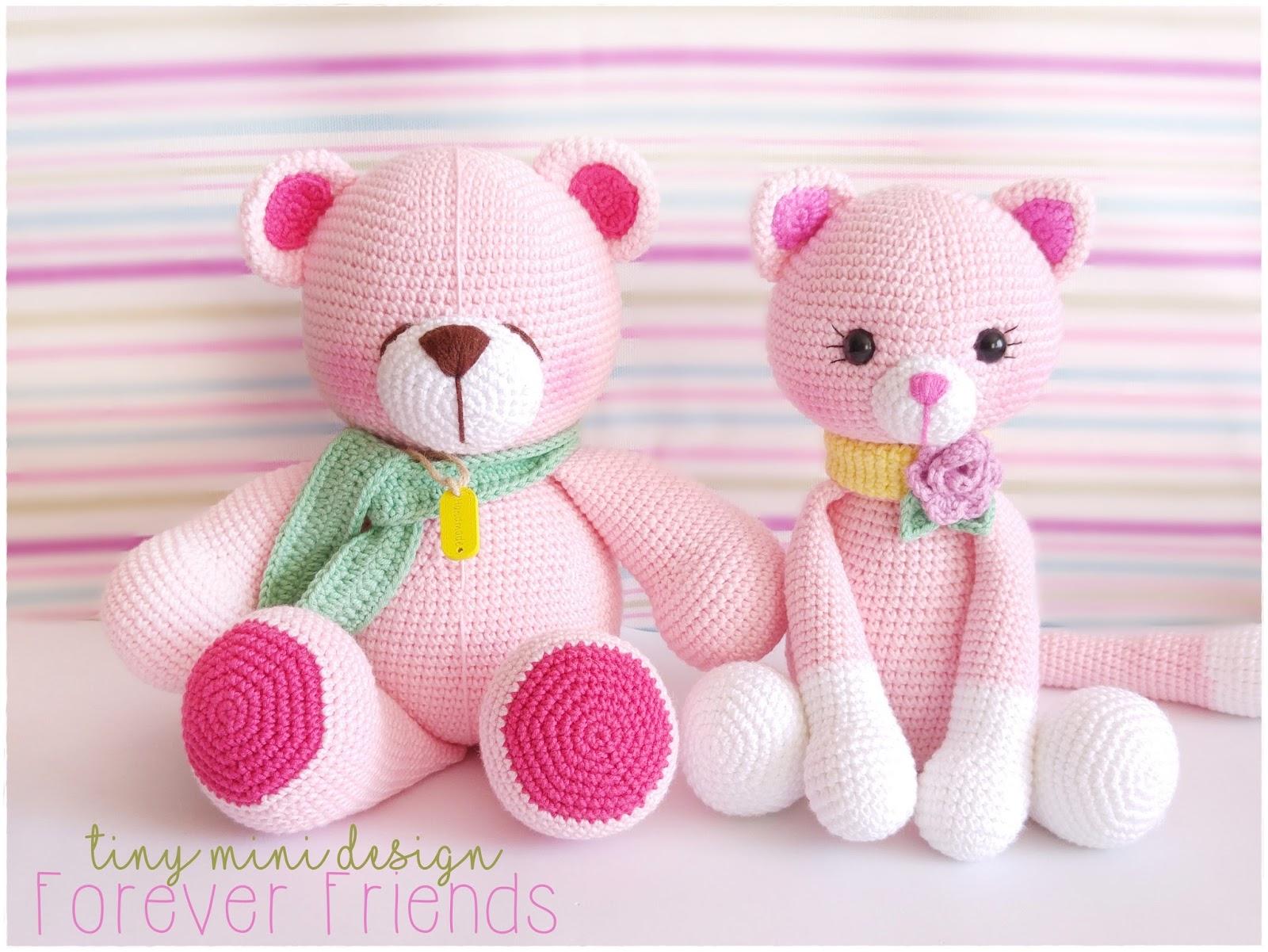 Amigurumi Yapimi Tarifi : Amigurumi Pembe Ayicik-Amigurumi Pink Bear Tiny Mini Design