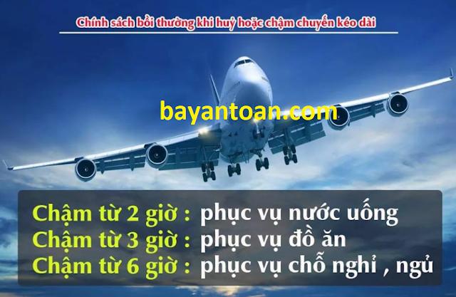 Quy định về mức bồi thường cho hành khách khi hủy hoặc chậm chuyến bay kéo dài
