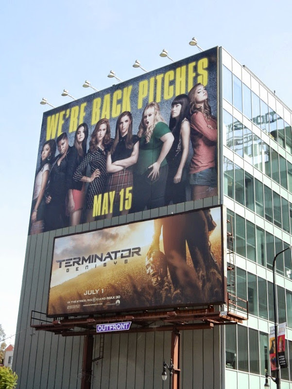 Giant Pitch Perfect 2 movie billboard