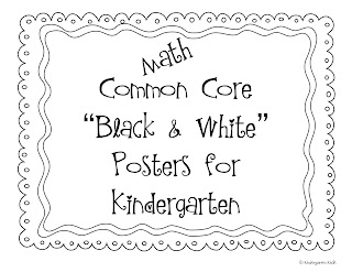 Kindergarten Kiosk: Kindergarten Common Core Posters For
