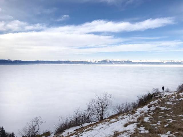 Vue sur le Jura et Genève au Mont Salève