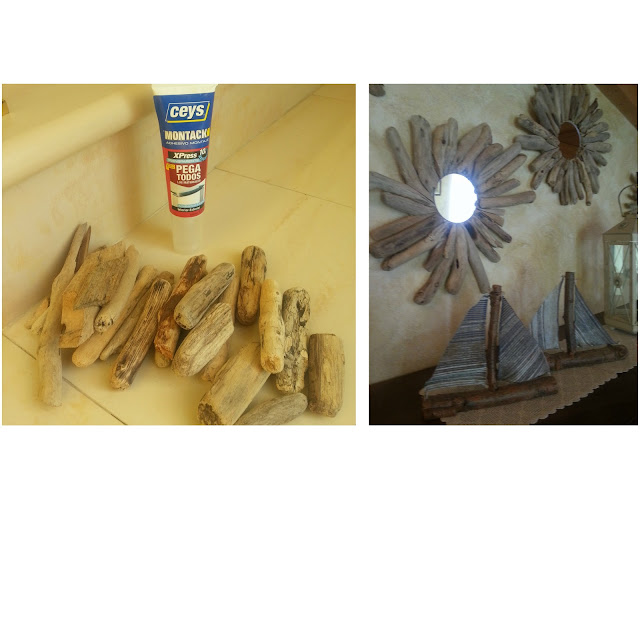 Como hice unos espejos sol con madera de la deriva ...