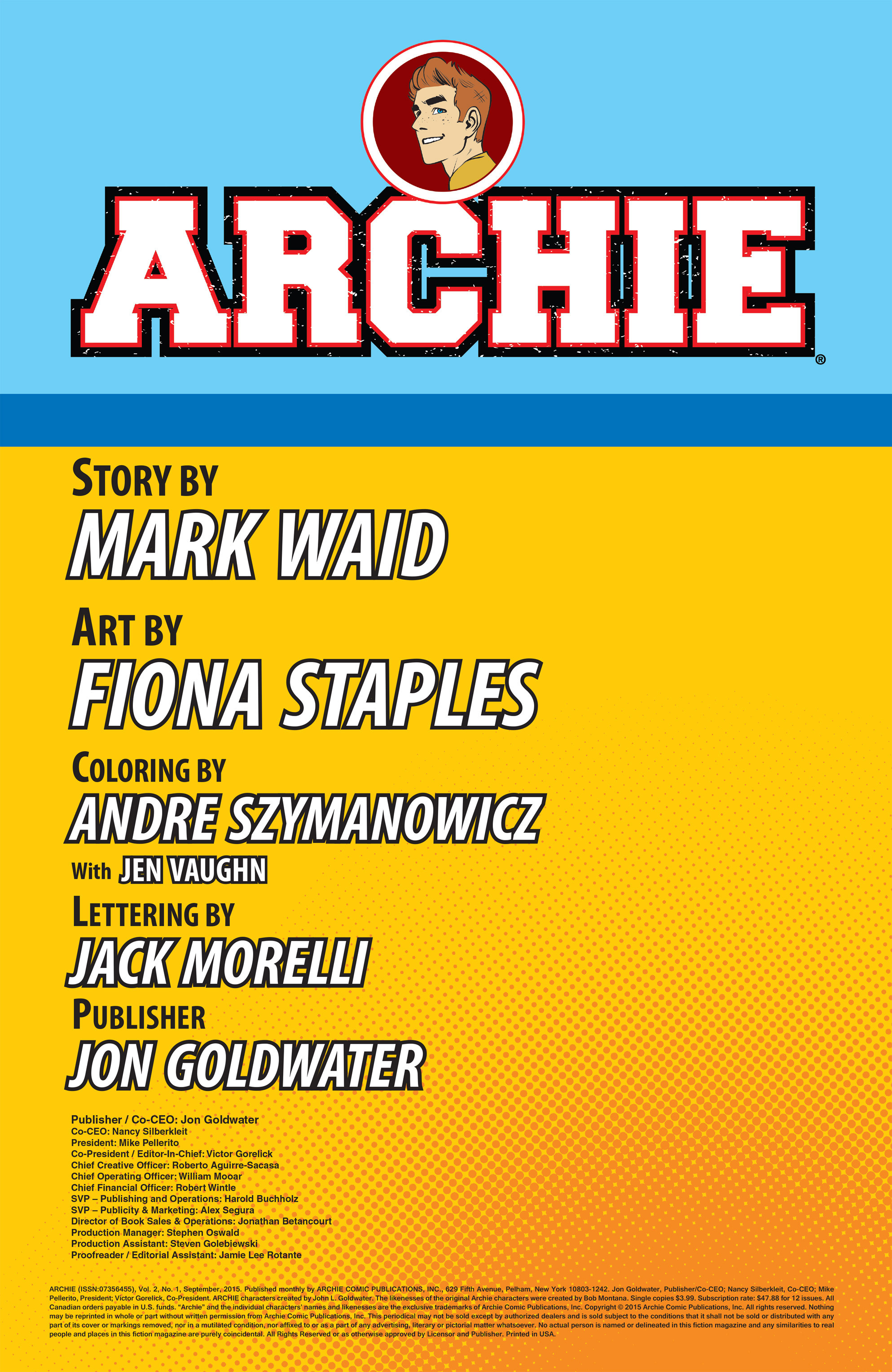Read online Archie (2015) comic -  Issue #1 - 2