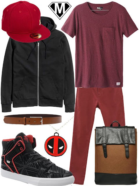 get the look deadpool casual