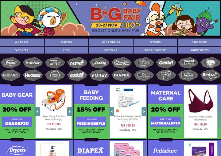 Shopping Harga Murah Guna Baucer Diskaun Big Baby Fair