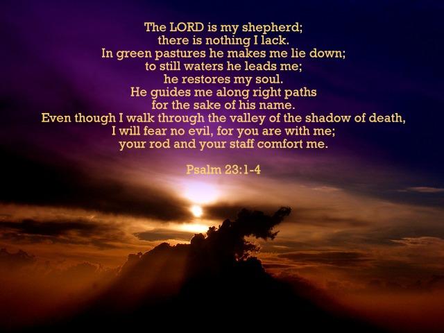 Daily Short Prayers: Psalm 23:1-4