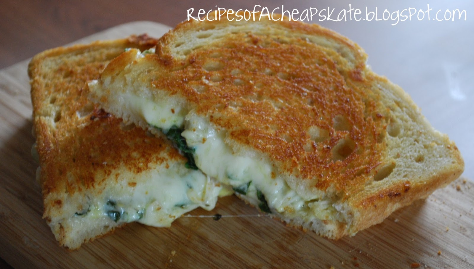 Recipes of a Cheapskate: Spinach Artichoke Grilled Cheese--Crazy ...