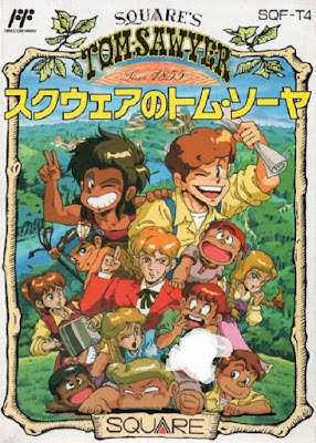 Front cover of Square's Tom Sawyer for the Nintendo Famicom.