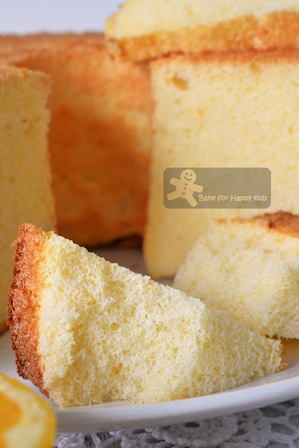 cottony soft orange chiffon cake